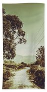 Tasmania Country Roads Beach Towel
