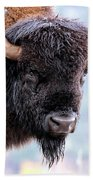 Tatanka Portrait Beach Towel