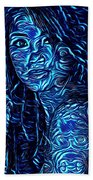 Tatto Lady With The Blues Beach Towel