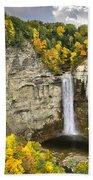 Taughannock Falls Autumn Beach Towel