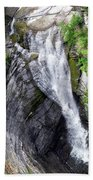 Taughannock Falls Upper Rim Trail Beach Towel by Christina Rollo