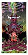 Taurus -psychedelic Zodiac Beach Towel