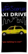 Taxi Driver Movie Poster Beach Towel