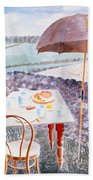 Tea At Furlongs Beach Towel