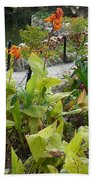 Tea Garden At San Antonio Zoo Crosswalk Beach Towel