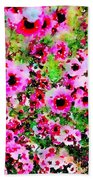 Tea Tree Garden Flowers Beach Towel