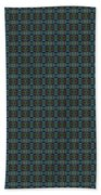 Teal Diamond Crackle From Sunset Strip Beach Towel