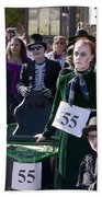 Team 55 At Emma Crawford Coffin Races In Manitou Springs Colorado Beach Towel