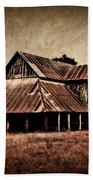 Teaselville Texas Barns Beach Towel