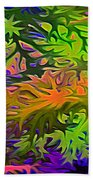 Technicolor Leaves Beach Towel
