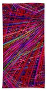 Technicolor Pick Up Stix Beach Towel