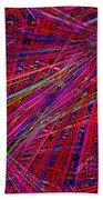 Technicolor Pick Up Stix Beach Sheet