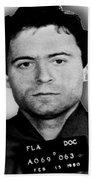 Ted Bundy Mug Shot 1980 Vertical  Beach Towel