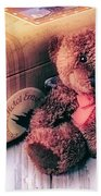 Teddy Bear And Suitcase Beach Towel