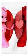 Teddy Bearz Valentine Beach Sheet
