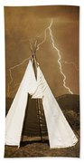 Tee Pee Lightning Beach Towel