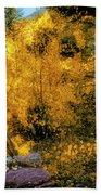 Telluride Spirituality - Colorado - Autumn Aspens Beach Sheet