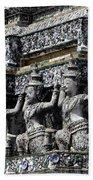 Temple Detail In Bangkok Thialand Beach Towel