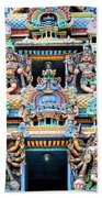 Temple Facade Chennai India Beach Towel