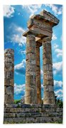 Temple Of Apollon Beach Towel