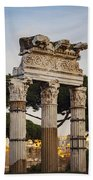 Temple Of Castor And Pollux Beach Towel