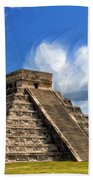 Temple Of The Feathered Serpent Beach Towel