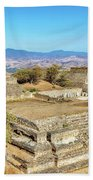 Temples In Monte Alban Beach Towel