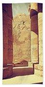 Temples Of Karnak  Beach Towel
