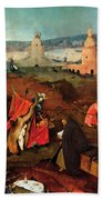 Temptation Of Saint Anthony, Right Wing Beach Towel