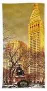 Ten Past Four At Madison Square Park Beach Towel