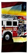 Ten Truck Fdny Beach Towel