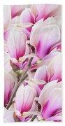 Tender Magnolia Flowers Beach Towel