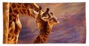 Tenderness Painted Beach Towel
