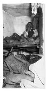 Tenement Life, Nyc, C1889 Beach Sheet
