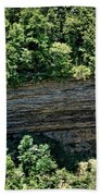 Tennessee River Gorge And Waterfall Panorama Beach Towel