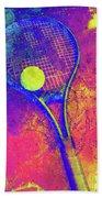 Tennis Art Version 1 Beach Towel