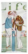 Tennis Court Romance, 1925 Beach Towel