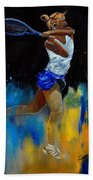 Tenniswoman 57 Beach Towel
