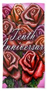 Tenth Anniversary Beach Towel