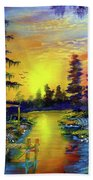 Tequila Sunrise In The Swamp Beach Towel