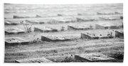 Terezin Cemetery Graves - Czechia Beach Towel