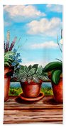Terra Cotta Blues Beach Towel