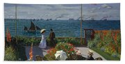 Terrace At Sainte-adresse Beach Towel