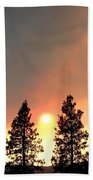Terrace Mountain Fire 2  Beach Towel