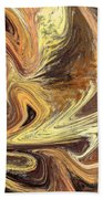 Terrestrial Fire Abstract Beach Towel