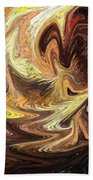 Terrestrial Flames Abstract  Beach Towel