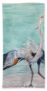 Terri's Heron Beach Towel