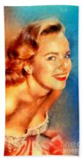 Terry Moore, Vintage Hollywood Actress Beach Towel