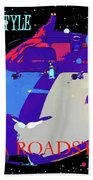 Tesla Roadster 10 Beach Towel