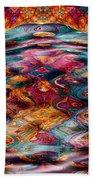 Tesseralien Griddle Beach Towel